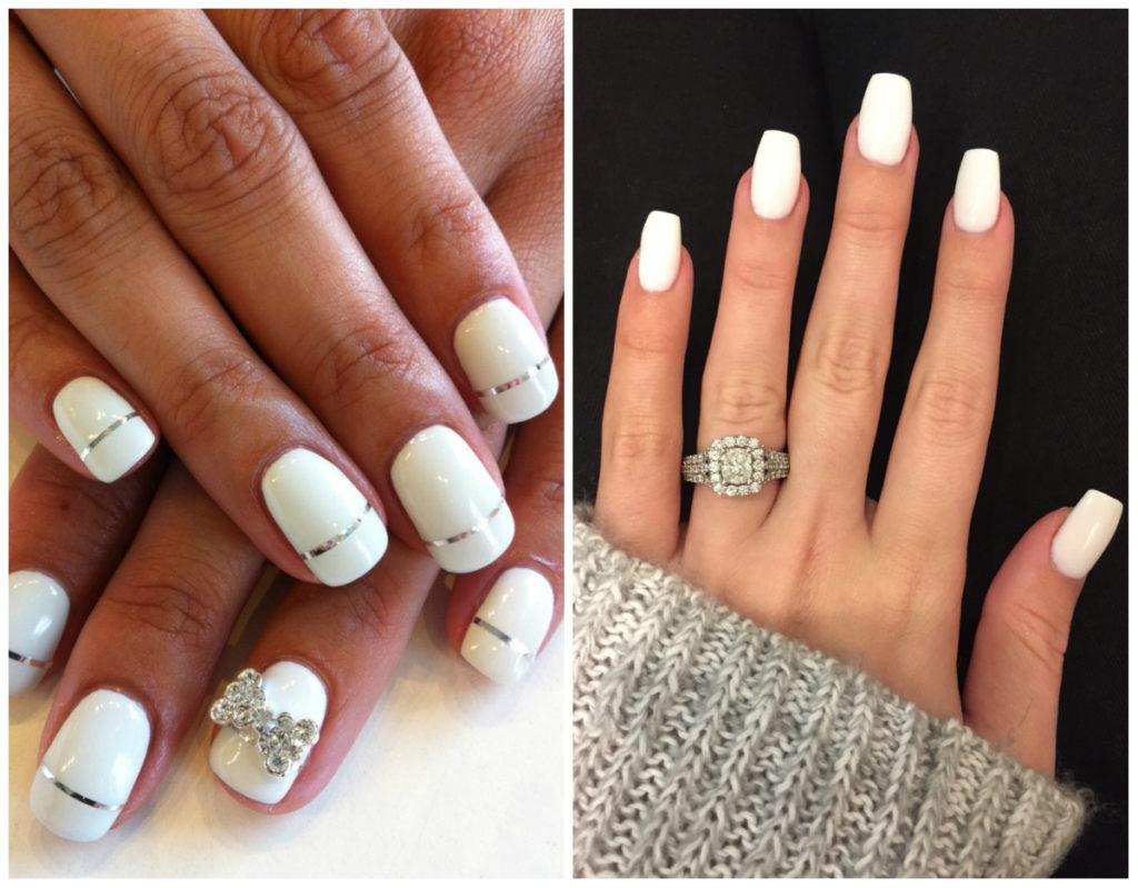 Красивые и стильные белые ногти 2020