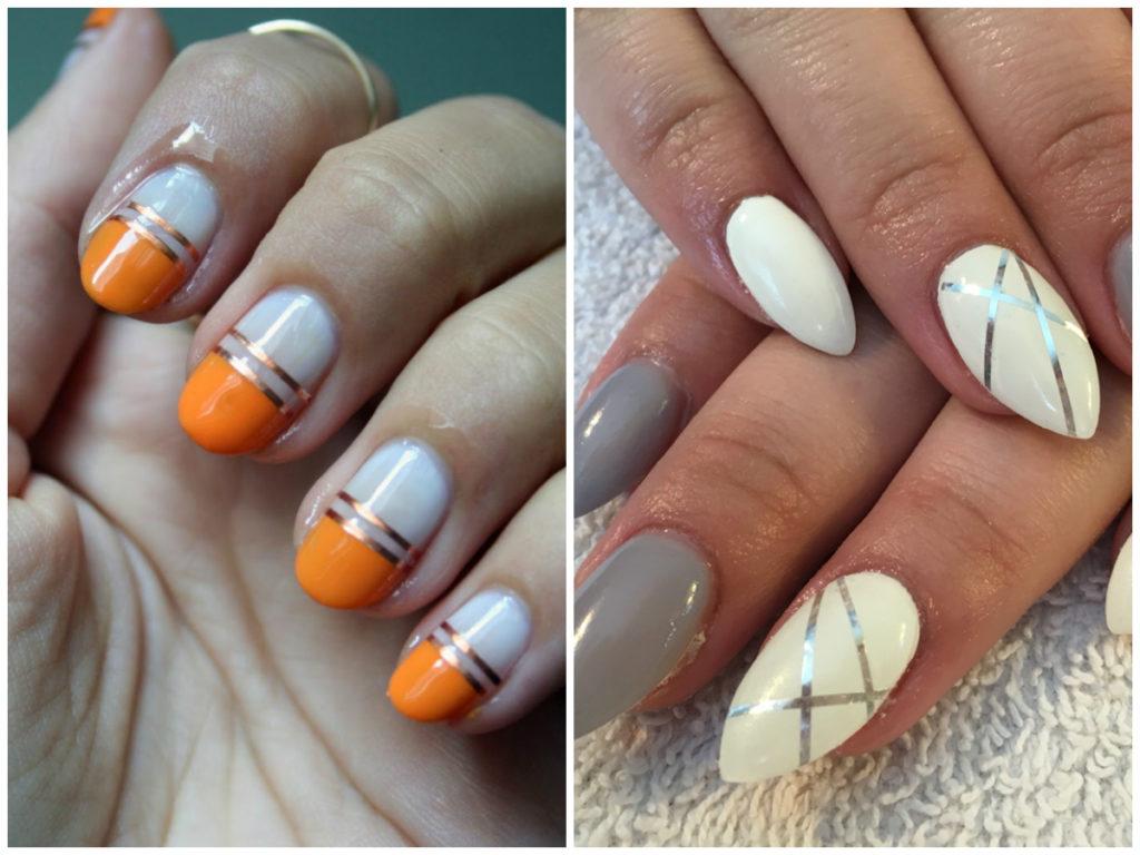 Белые ногти дизайн 2020, металлика с белым лаком