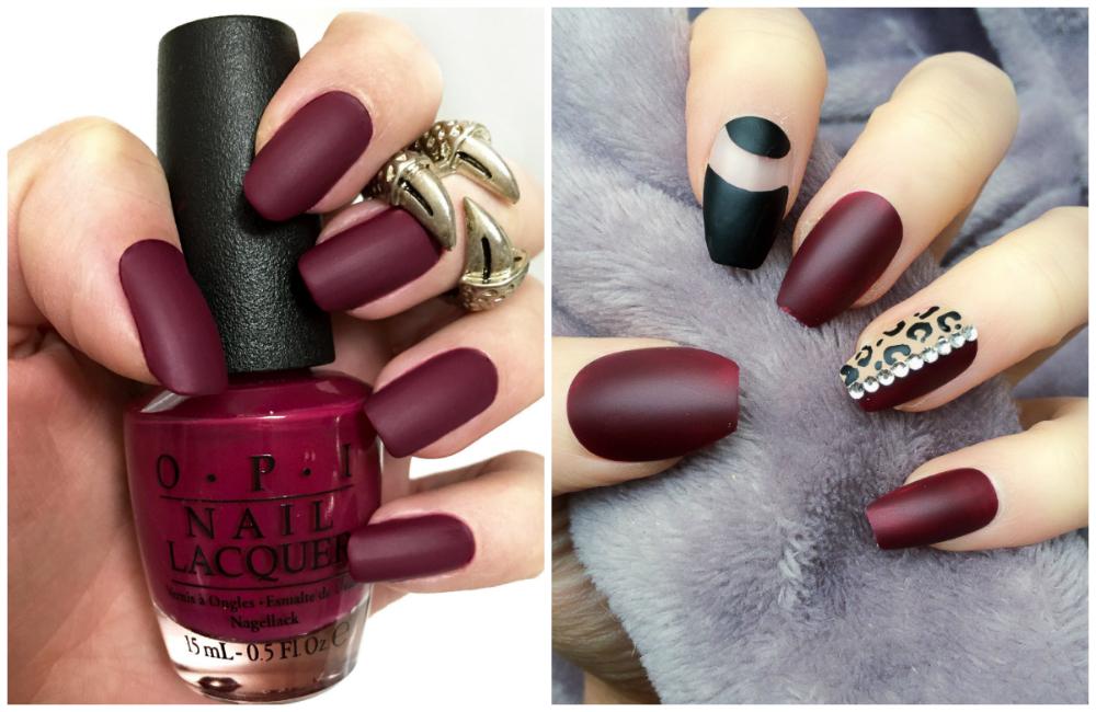Трендовые и необыкновенные ногти бордового цвета