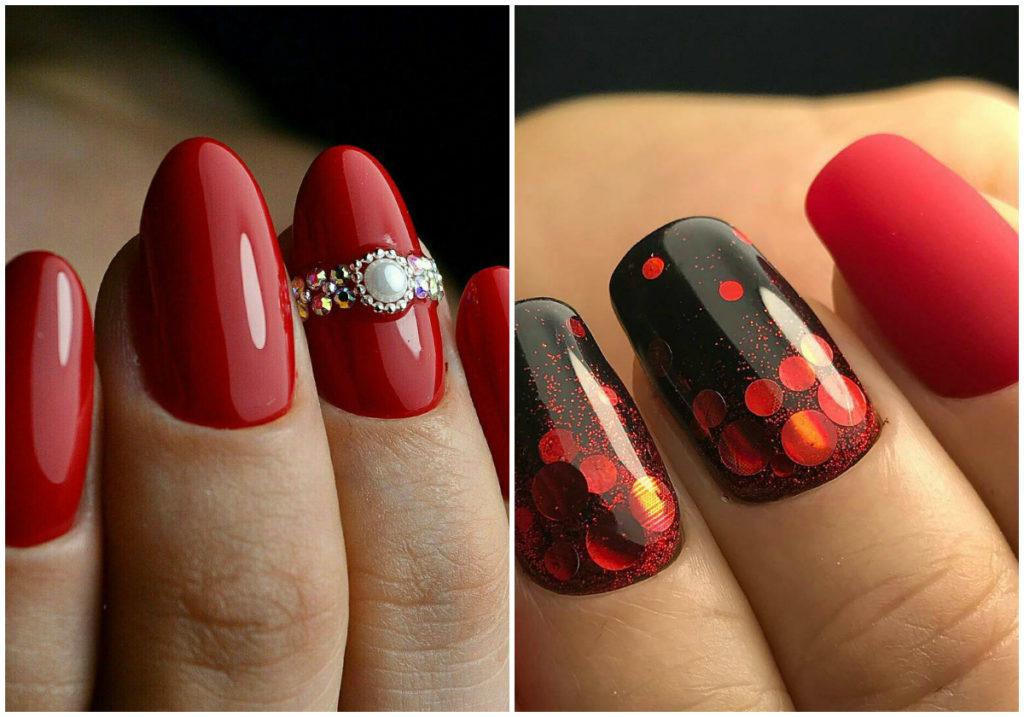 Красные ногти 2020 фото дла тех, кто следует моде