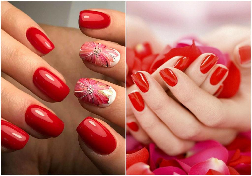Стильные, модные и страстные красные ногти 2020