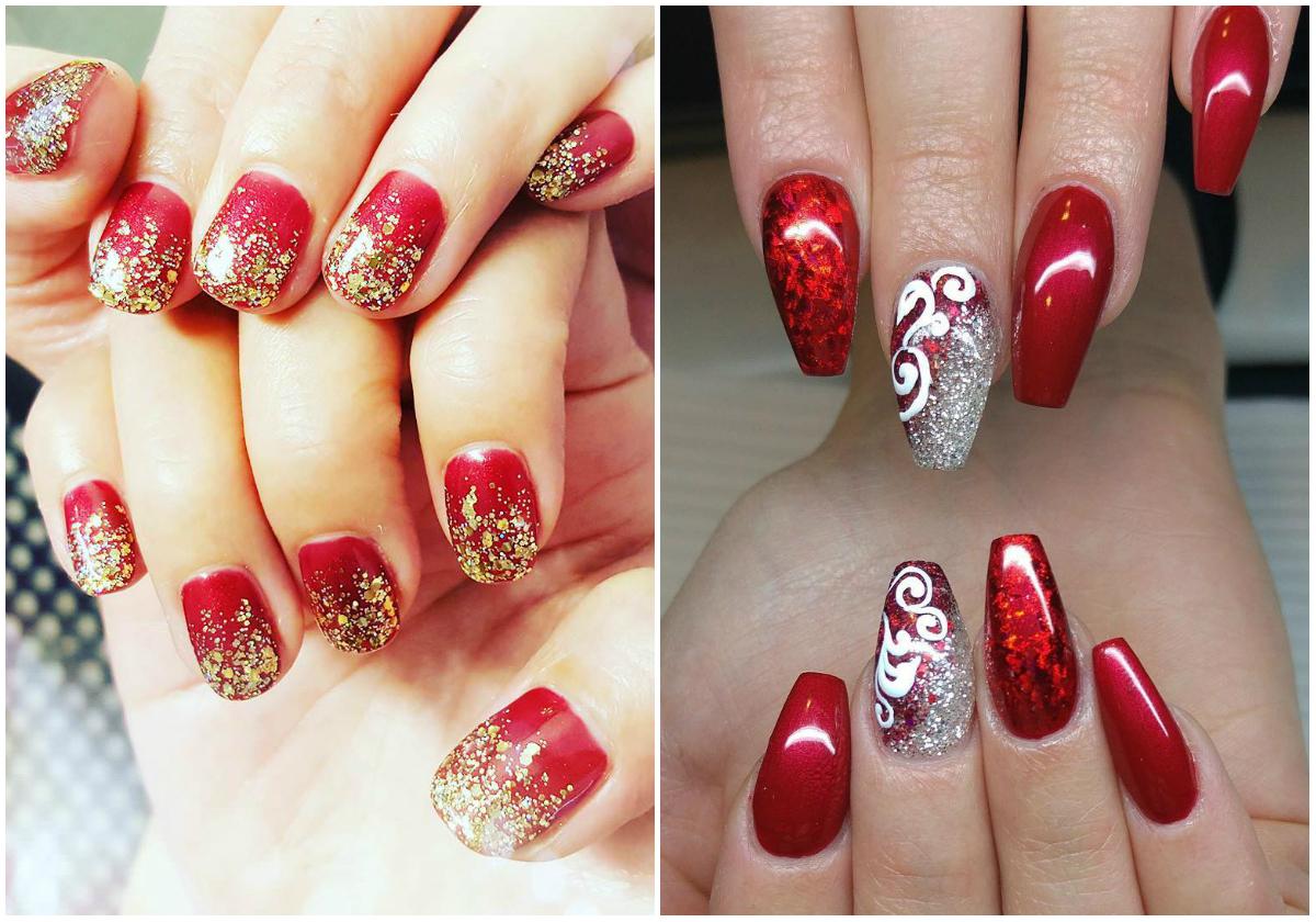верхний дизайн ногтей 25 фото красный