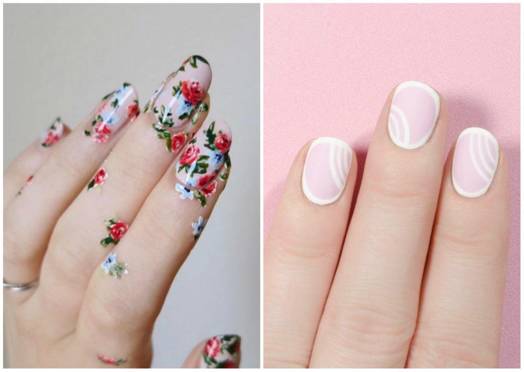 Цветочный и нежный свадебный маникюр 2018 модные тенденции