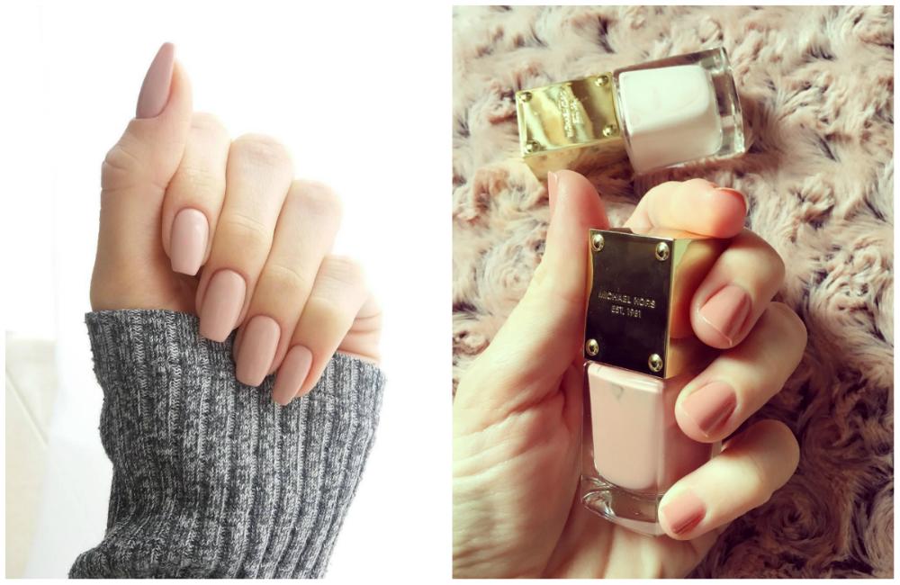 Великолепные короткие ногти бежевого цвета