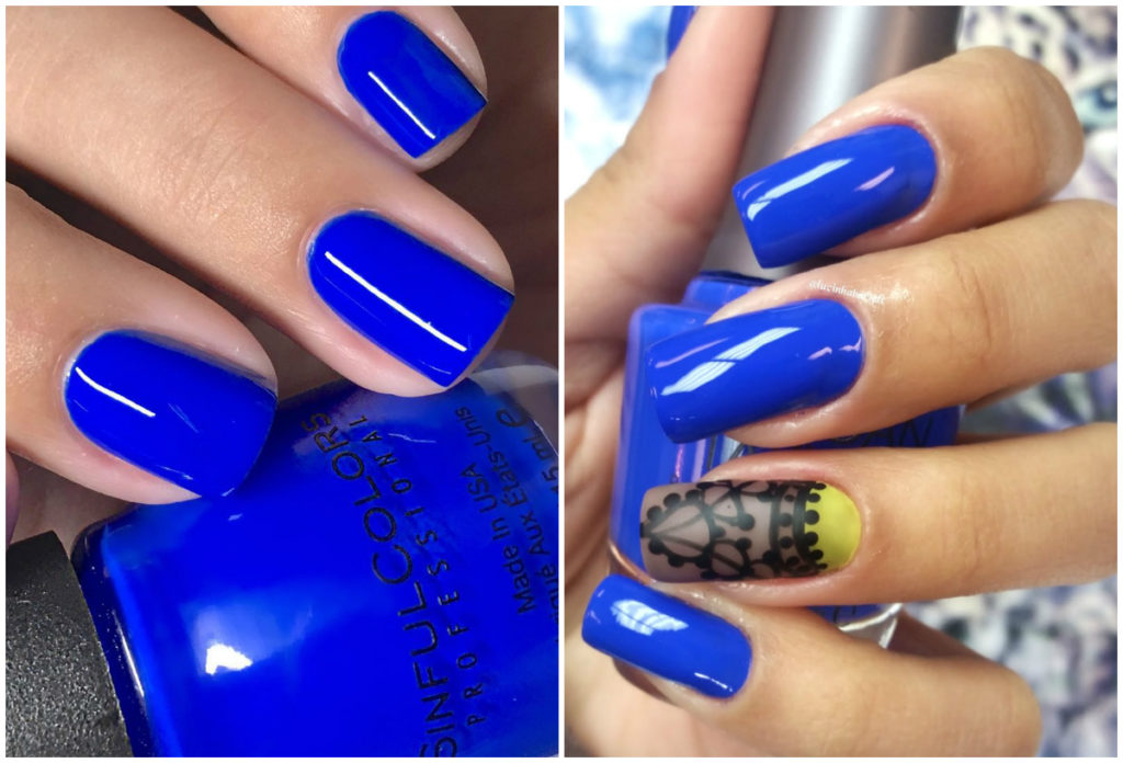 Модные и стильные синие ногти 2018