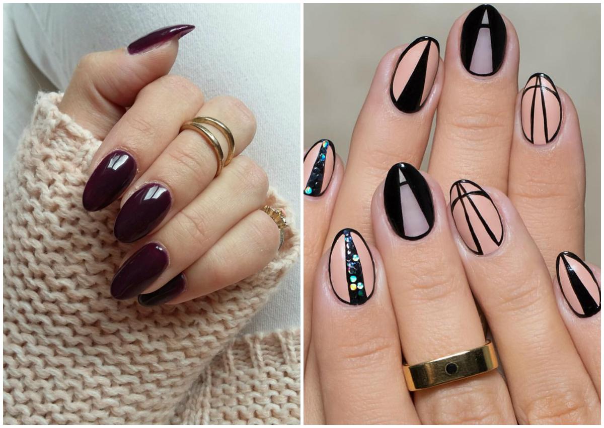 Миндальные ногти : 100 лучших идей дизайна ногтей 2018 на фото 71