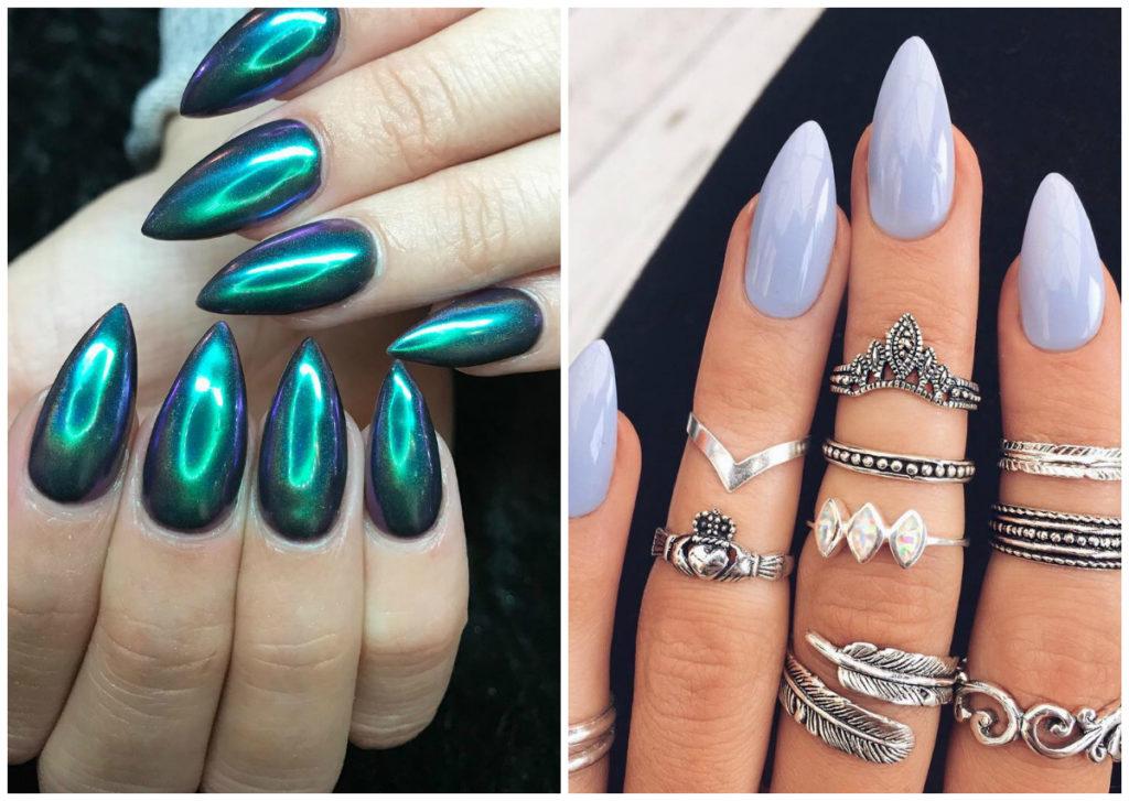 Модные и современные миндальные ногти дизайн 2020
