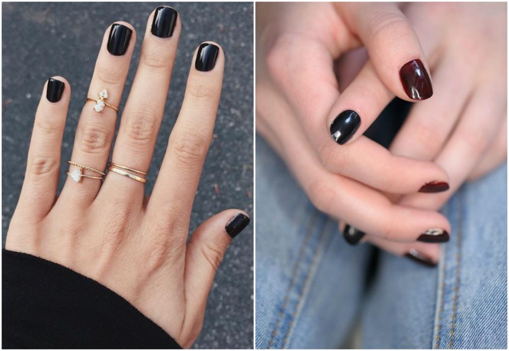 Стильные и трендовые темные ногти 2018