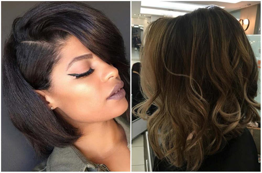 Роскошная женская стрижка боб 2020 года с прямыми и волнистыми волосами