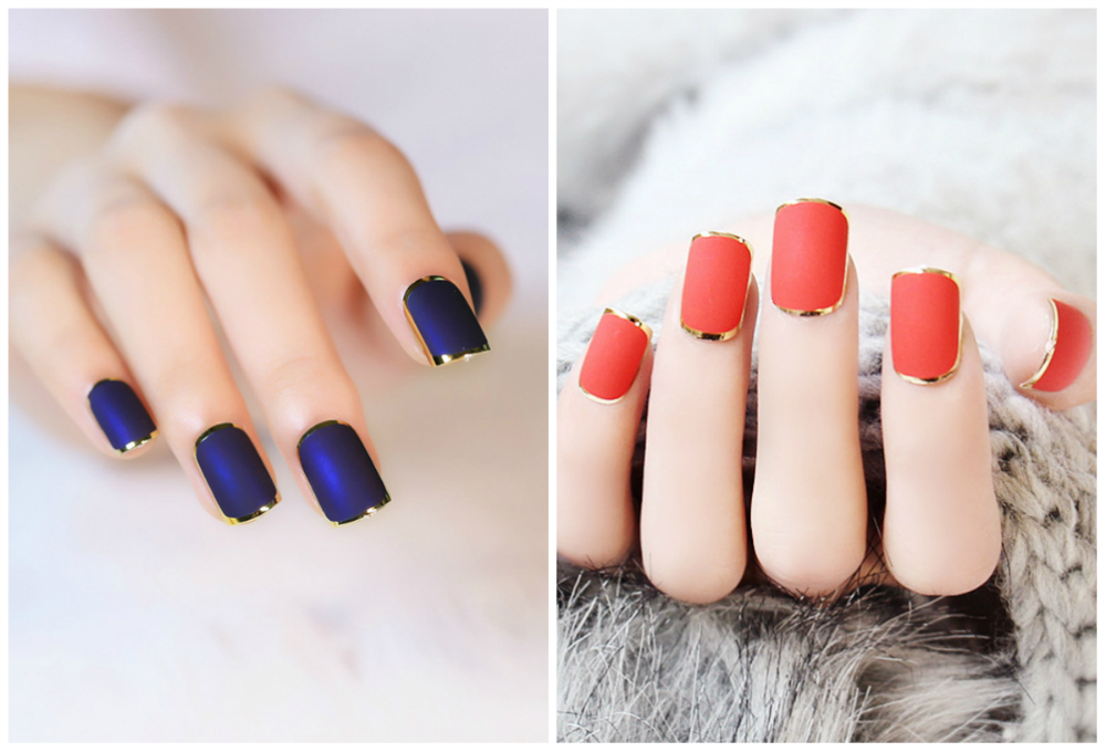 Короткие и модные квадратные ногти 2018