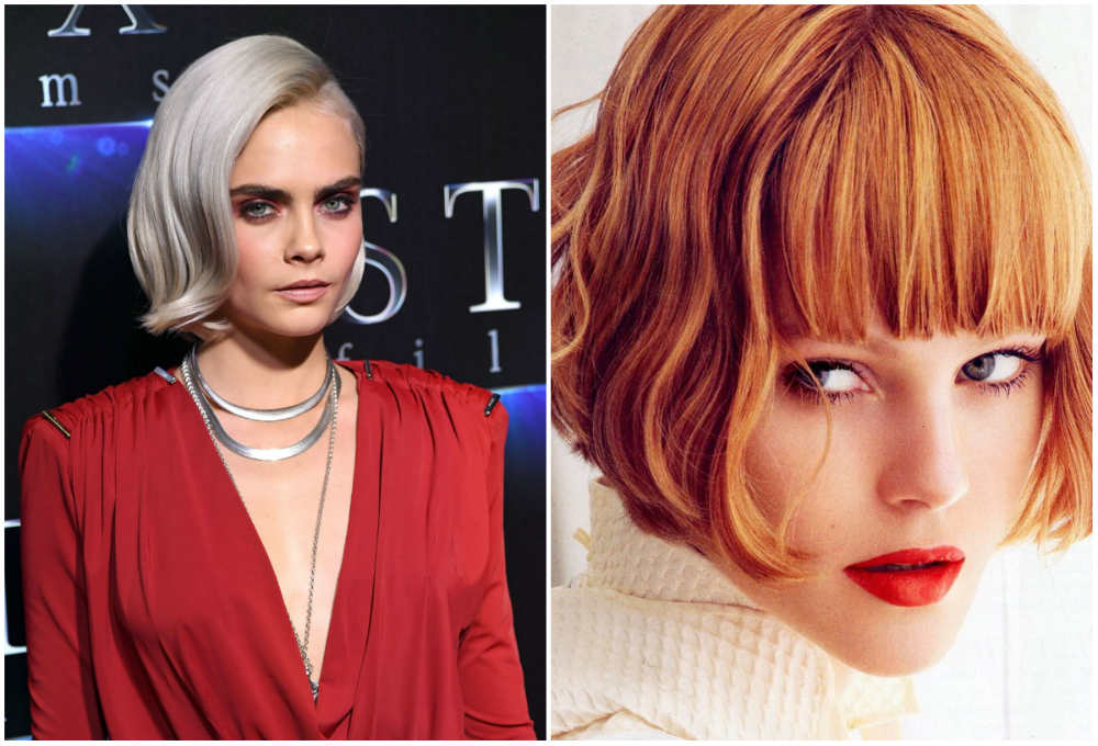 Дерзкие короткие стрижки каре 2018 года для платиновых и рыжих волос