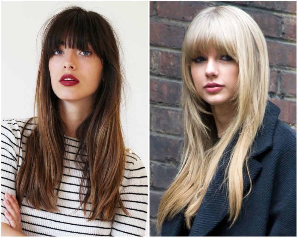 Неповторимые модные стрижки с челкой 2020 для длинныж волос