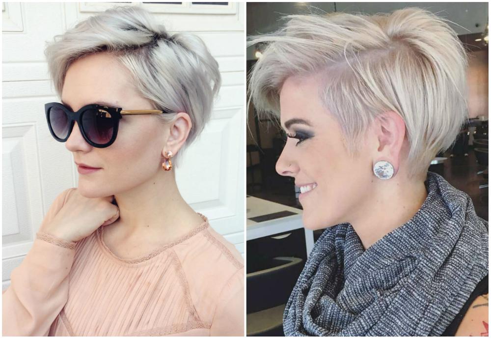 Модные стрижки для коротких и светлых волос с разными оттенками