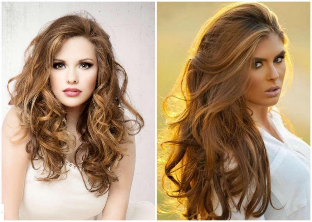 Роскошное бесподобное модное окрашивание волос светло-коричневого цвета
