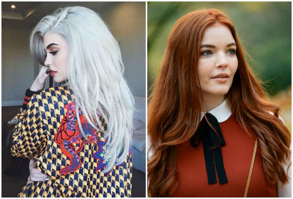 Модное окрашивание волос в разные красивые цвета и оттенки