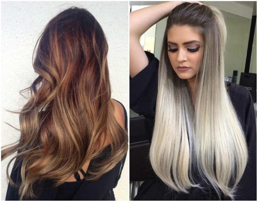 Модное окрашивание на длинные волосы для шикарного вида