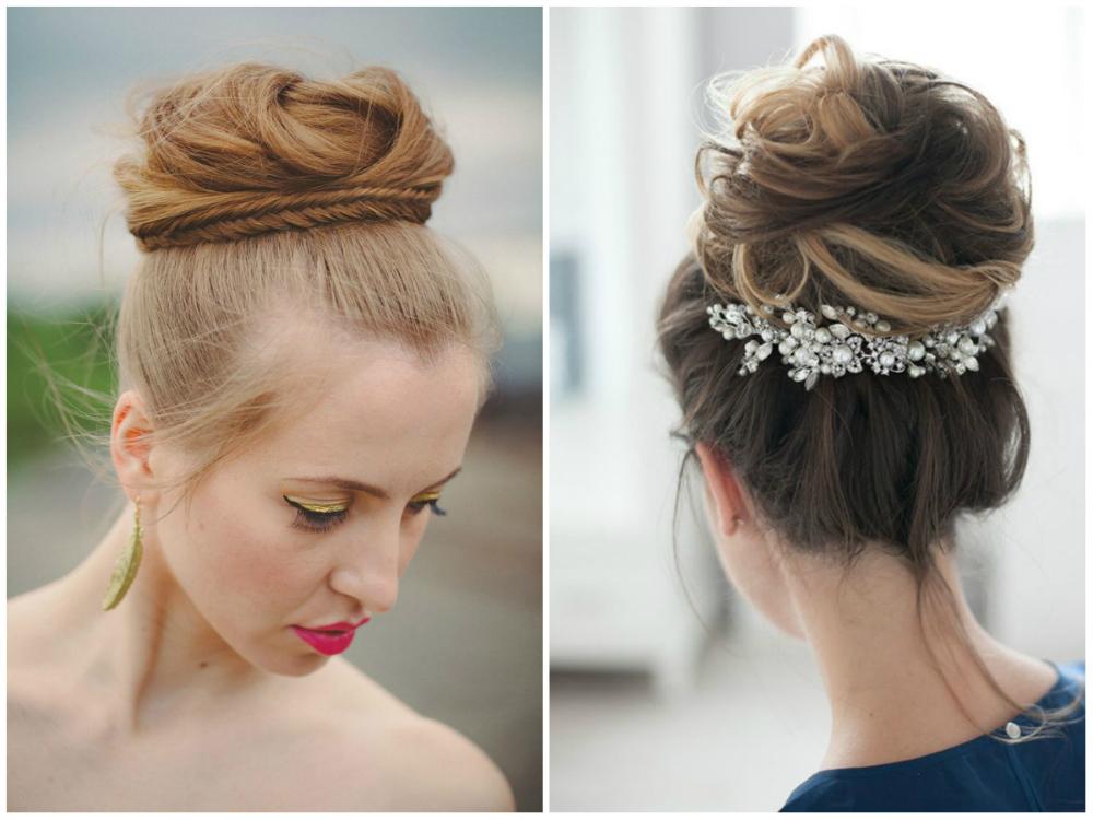 Kрасивые свадебные прически с высоко собранными волосами