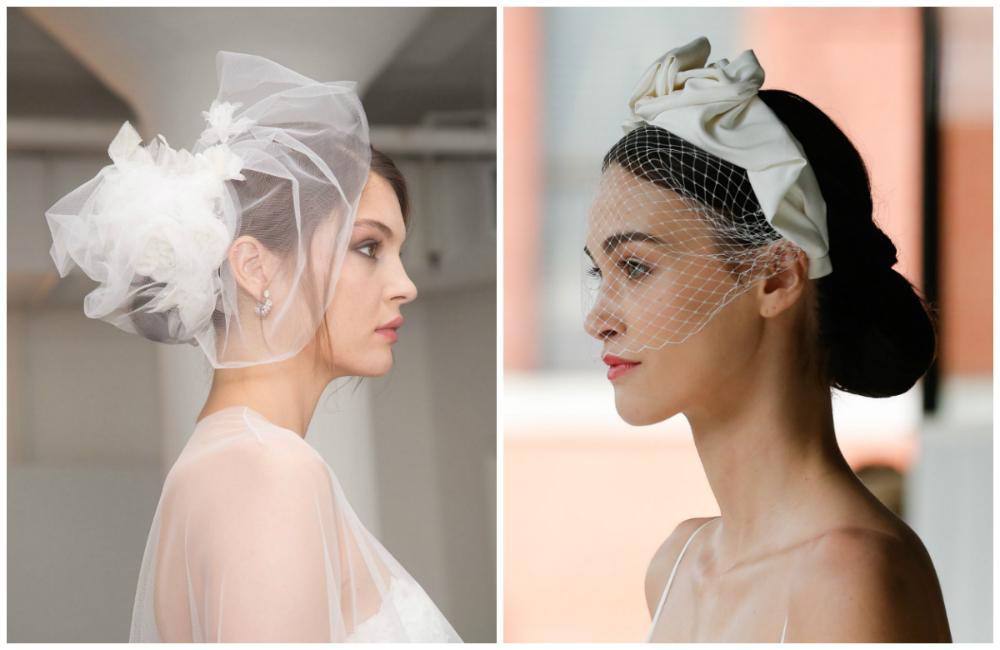 Женсетвенные и красивые свадебные прически с вуалью