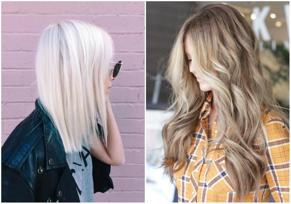 Окрашивание светлых волос в платиновый и грязный блонд