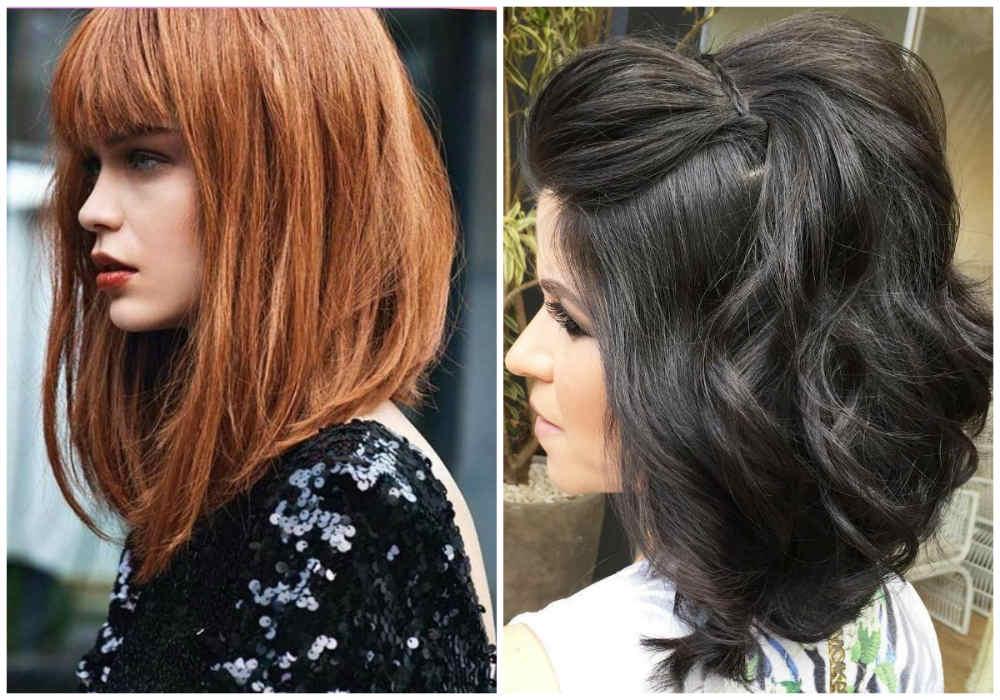 Прекрасные стрижки каскад на средние волосы 2020 года в форме боб