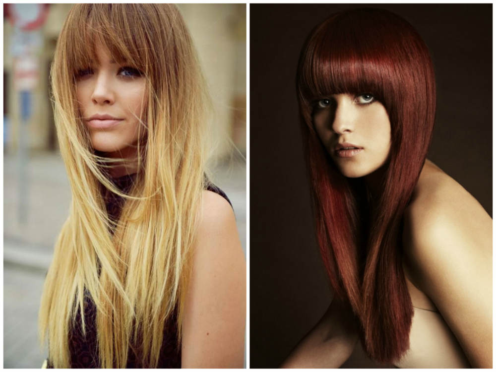 Красивые стрижки на длинные волосы 2022 с челкой