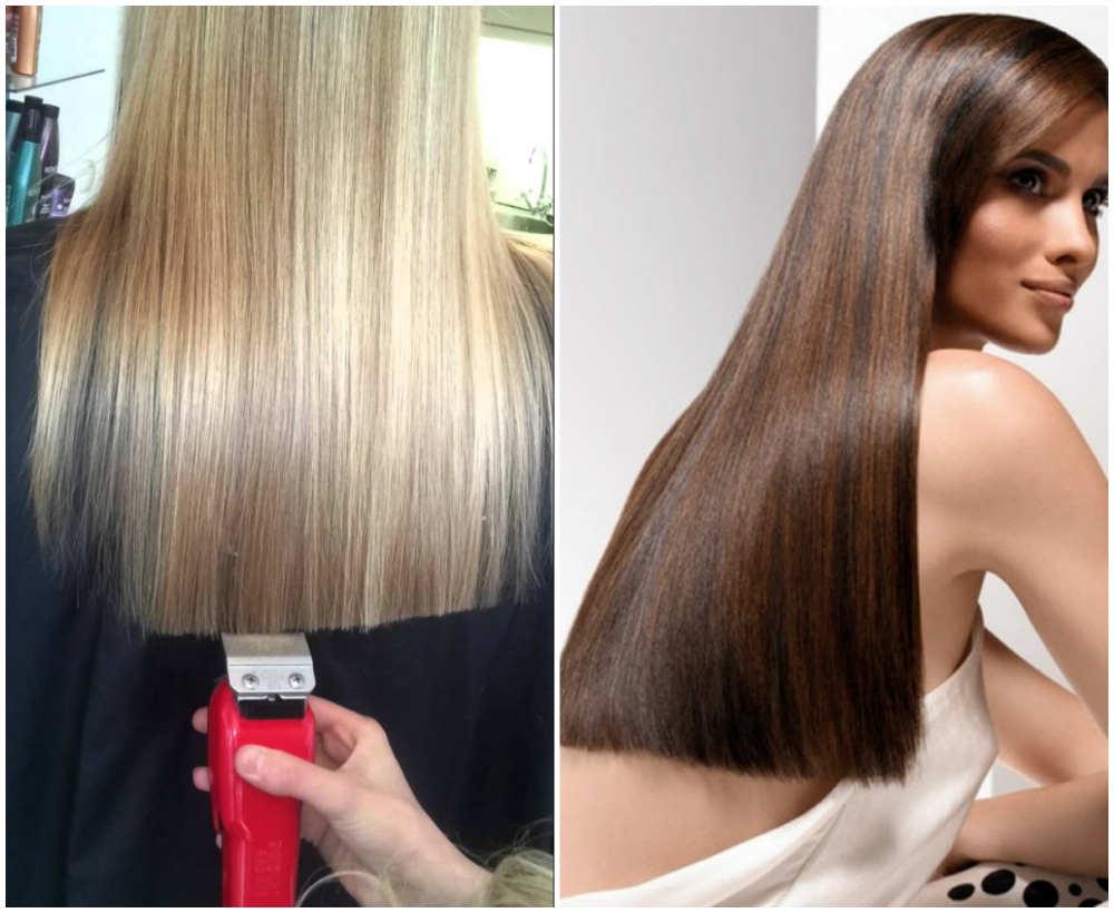 Ровные и блестящие модные стрижки на длинные волосы