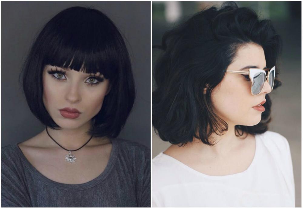 Модные, красивые и стильные стрижки на темные волосы 2018
