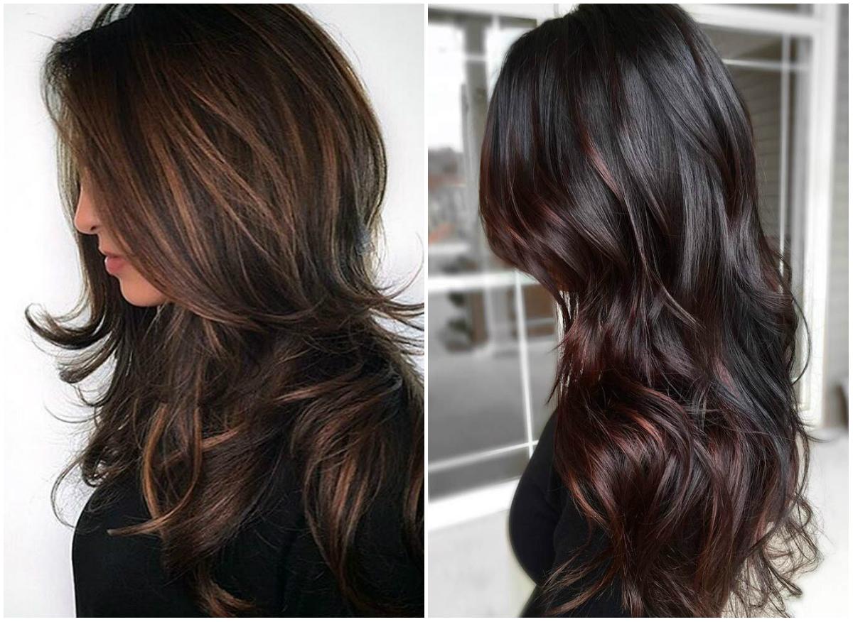 Длинные и ультрамодные стрижки на темные волосы для модниц