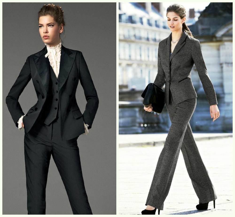 Строгие женские костюмы 2018