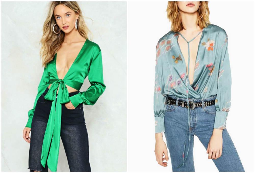 Женственные и стильные блузки с глубоким и красивым вырезом