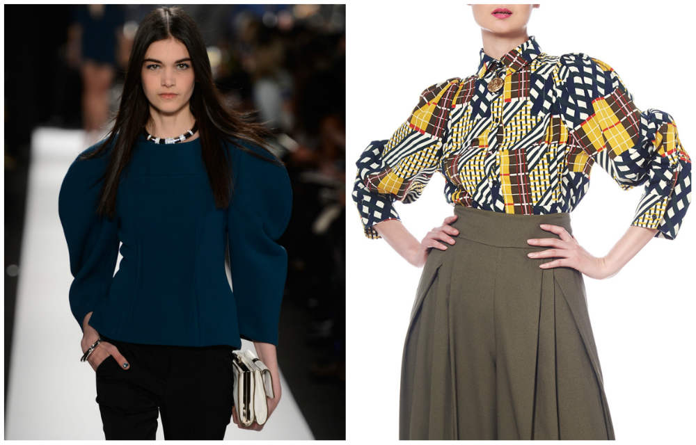 Модные блузки 2018 года, трендовые блузки с объемными плечами