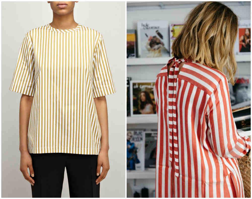 Карсивые и стильные блузки с трендовыми и разноцветными полосками
