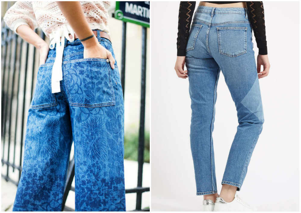 Модные джинсы 2018 года, фешнебельные лазерные узоры на джинсах