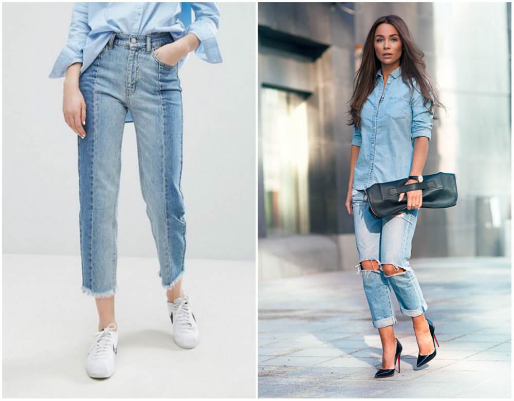 Модные джинсы 2018 года, реконструированные джинсы для модниц