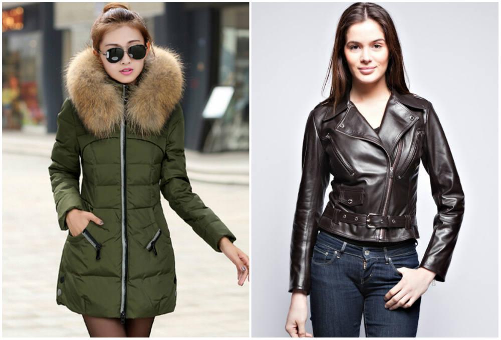 Пуховые и кожаные модные, трендовые и стильные женские куртки