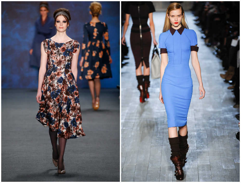 Разнообразные и разноцветные модные женские платья, лучшие тренды