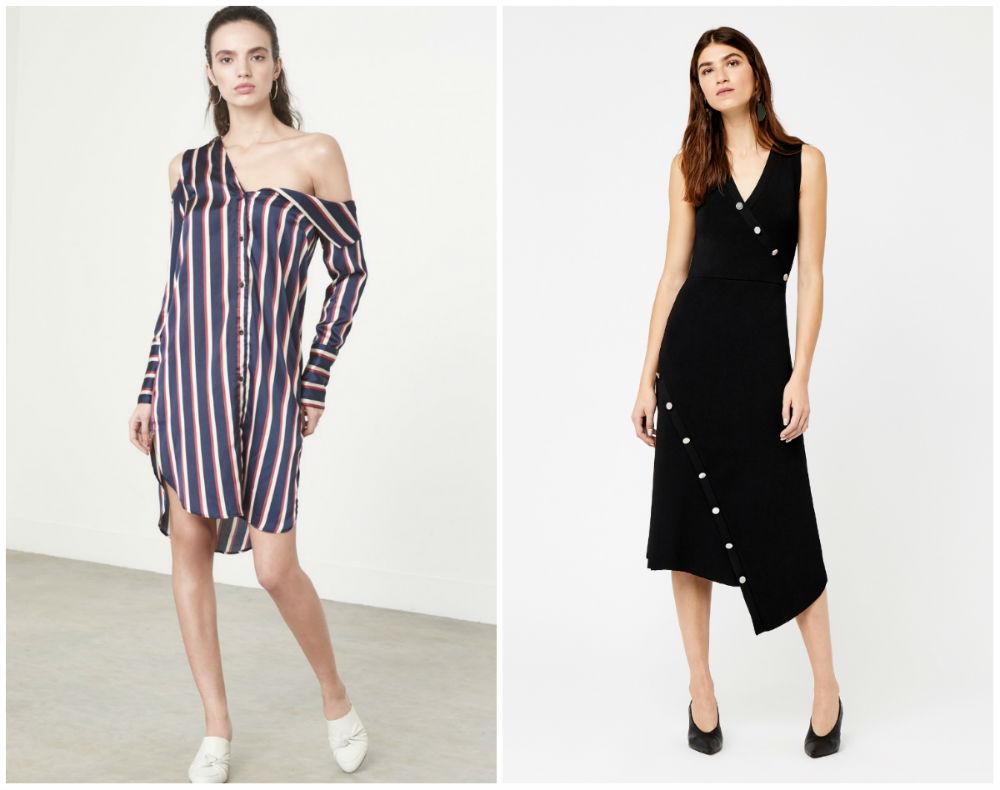 Ассиметричные модные платья 2020 года, трендовыйй подход к платьям