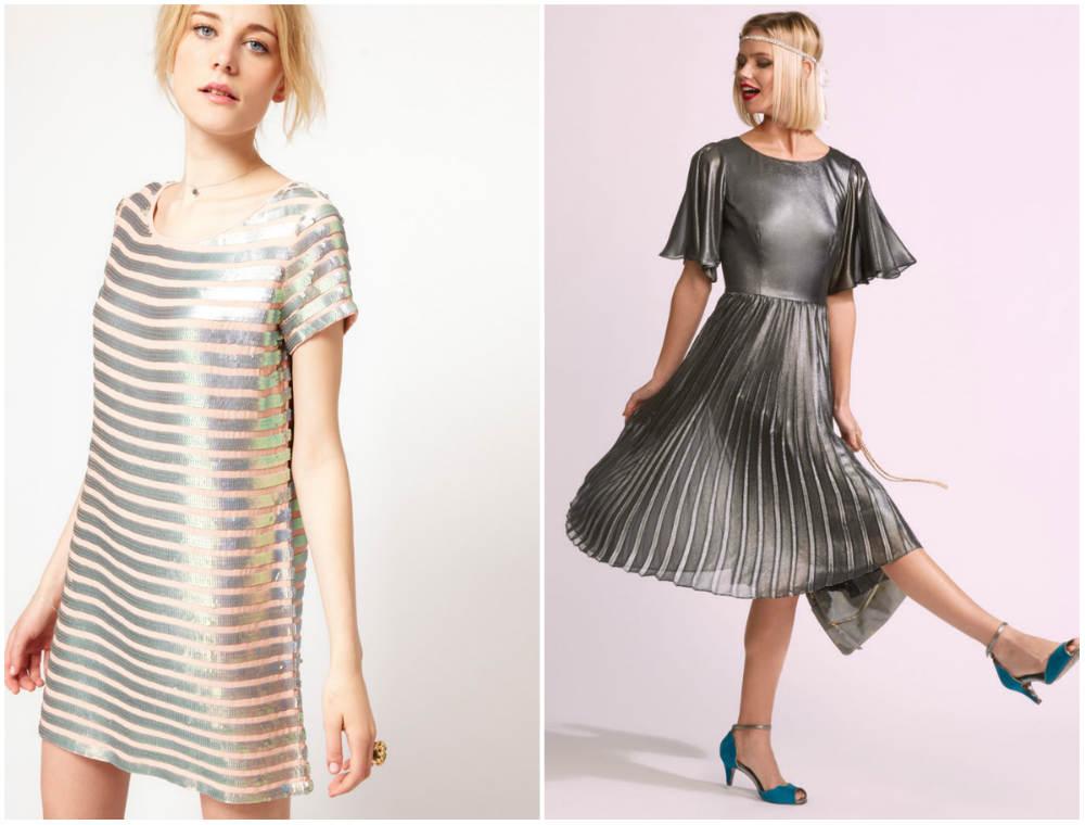 Металлические модные платья 2020 года, лучшие тренды и образы