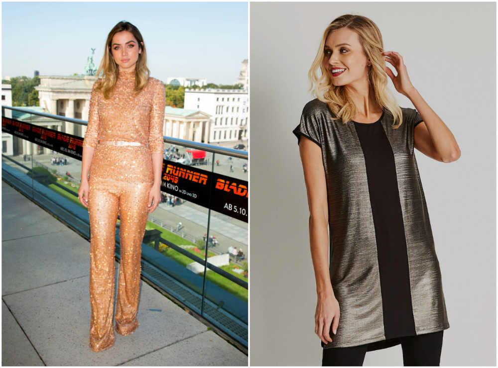 Бесподобные модные женские платья с металлическим эффектом