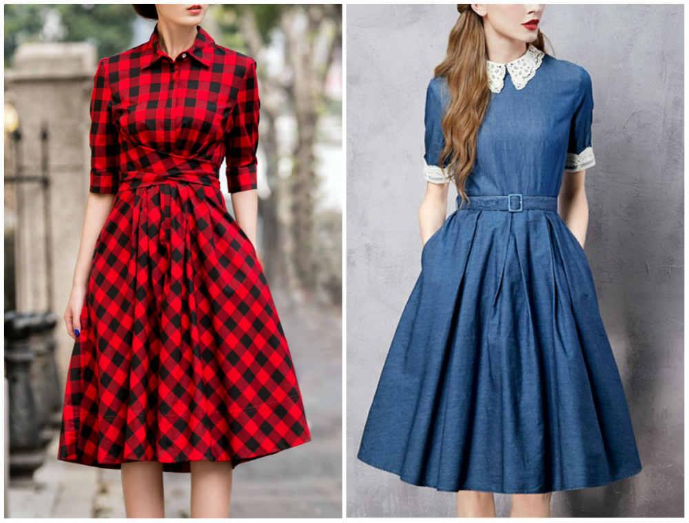 Красивые, эффектные модные женские платья в стиле ретро