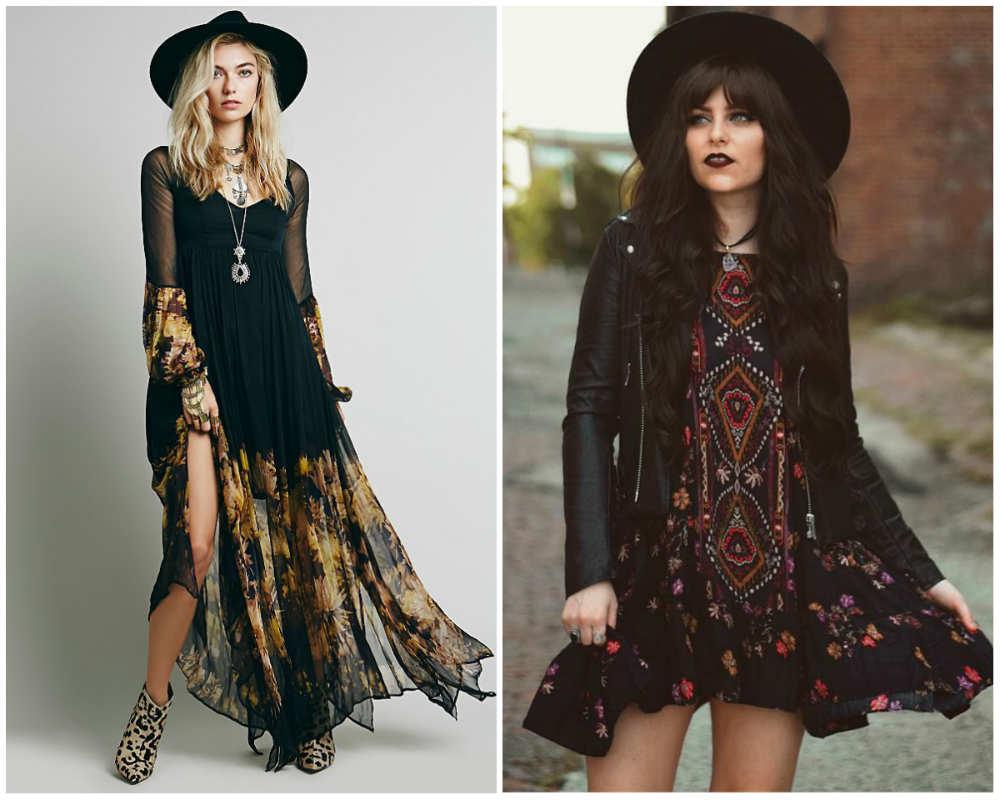 Модные женские платья в бохо стиле для стильных модниц