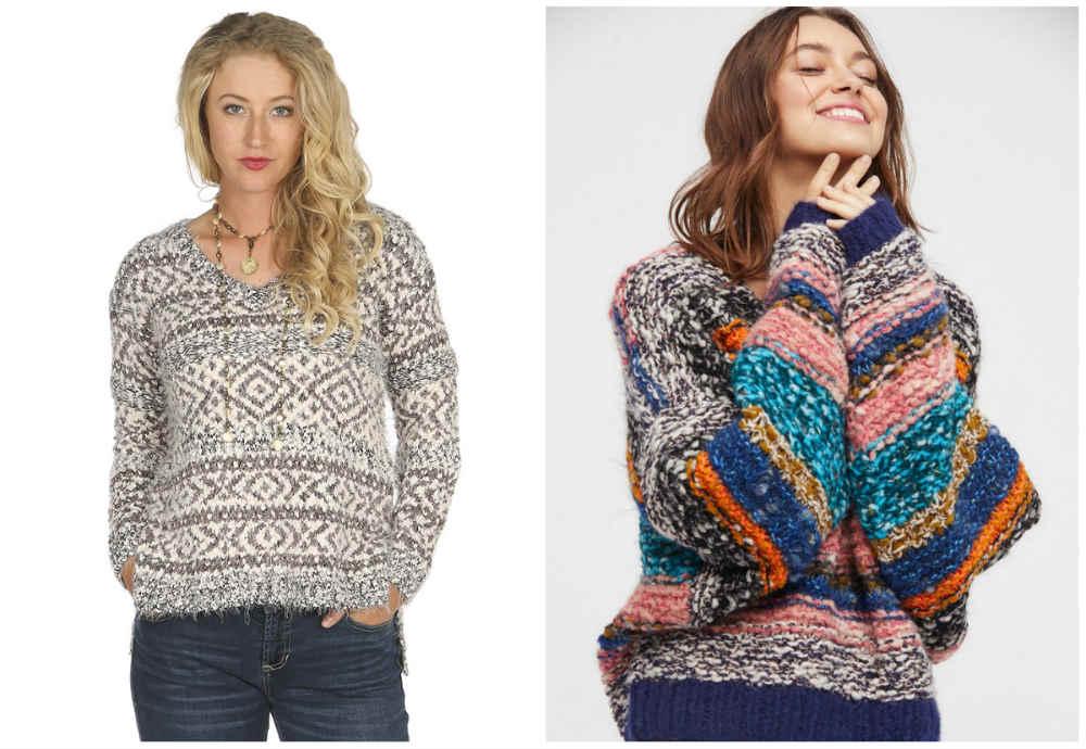 Модные свитера 2020 с разными принтами и ацтекским акцентом