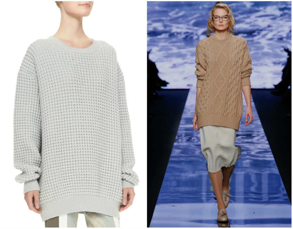 Объемные модные свитера 2020 года известных брендов и марок