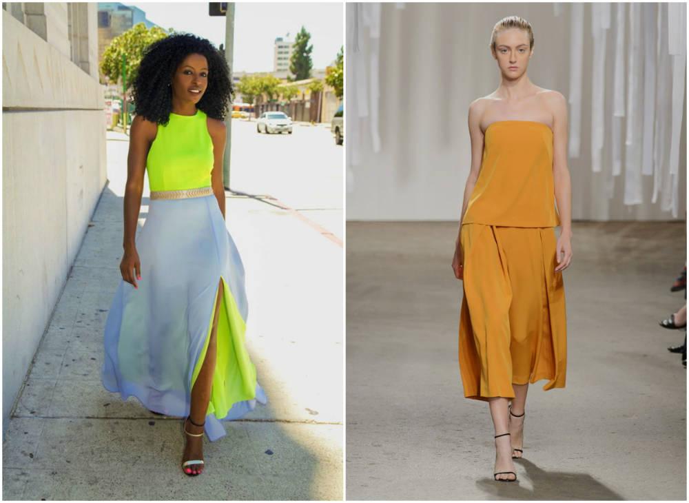 Модные цвета 2018 года, трендовые цитрусовые цвета и оттенки