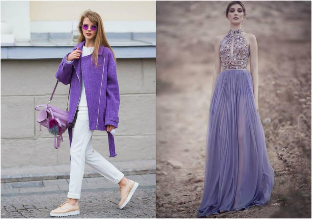 Модные цвета 2018 года, лавандовый нежный модные оттенок