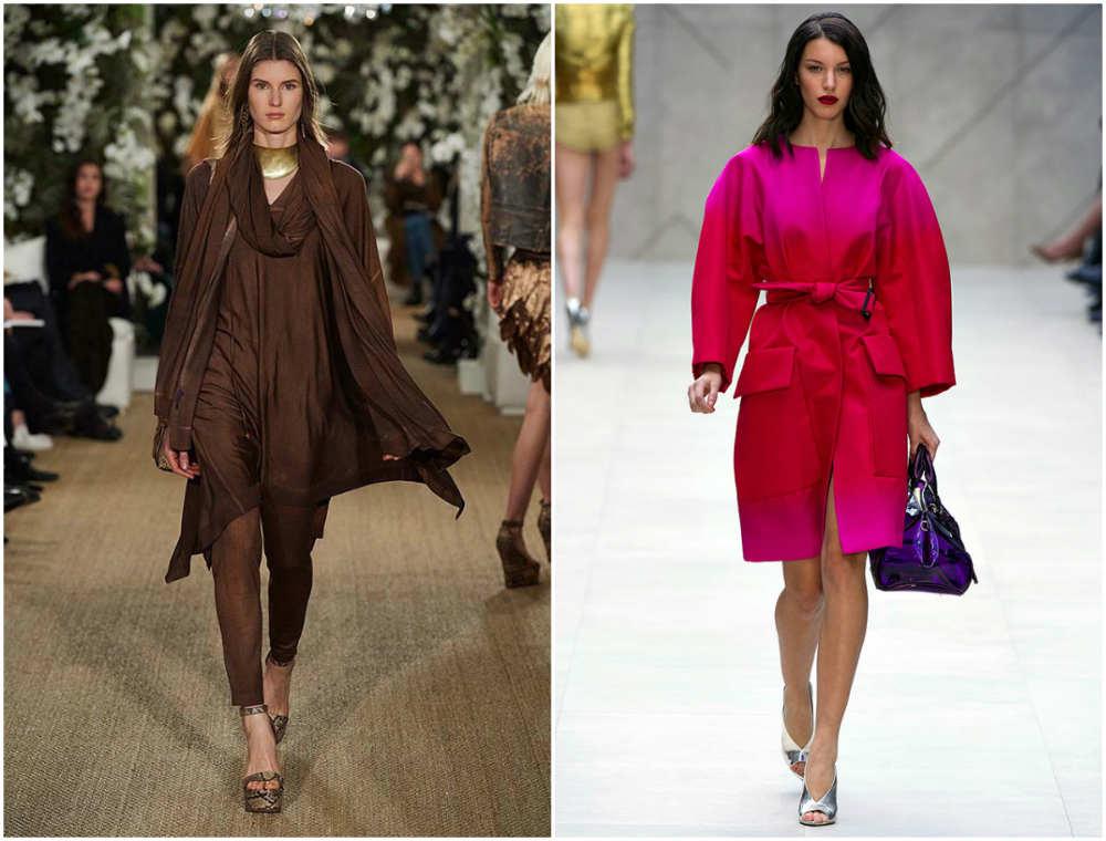 Модные цвета 2018 года, темный шоколадный цвет и яркая фуксия