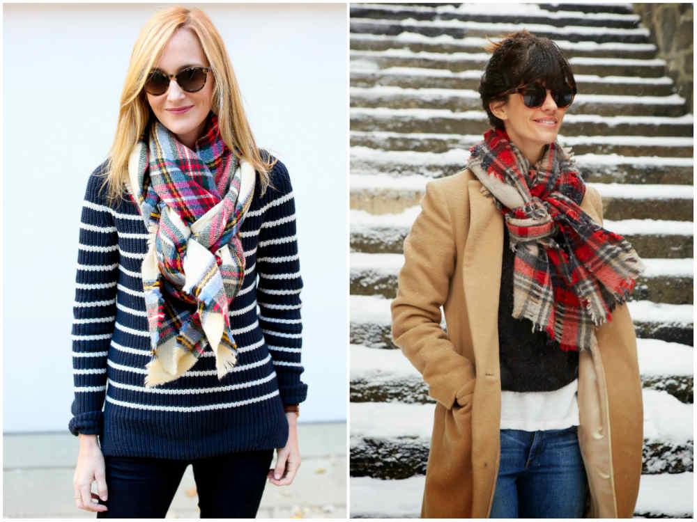 Модные шарфы 2018 года, разнообразные варианты завязывания шарфов
