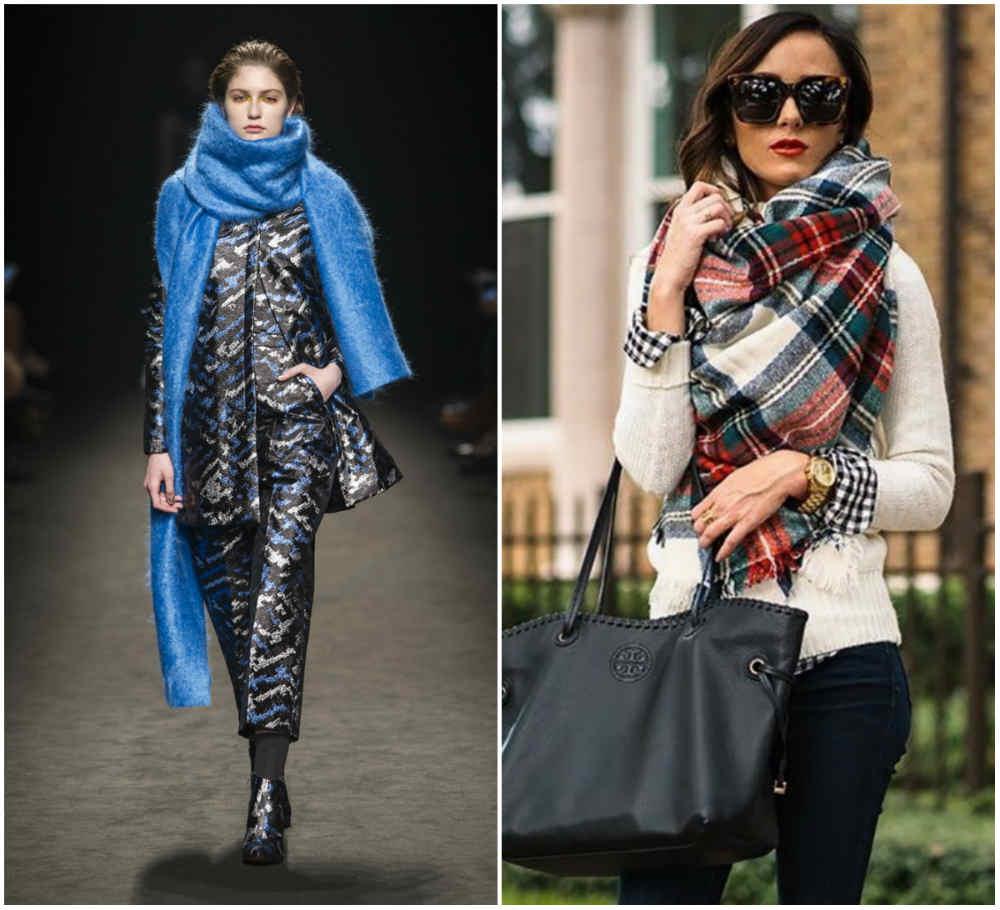 Фешенебельные и песподогные модные шарфы 2018 года разных форм