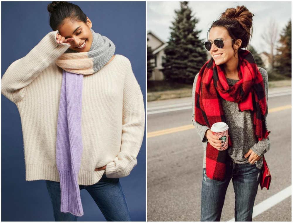 Жеснкие модные шарфы 2018 года для всех женщин и девушек