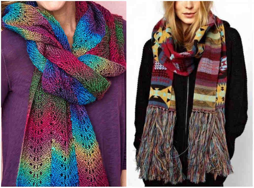 Разноцветные и креативные модные шарфы 2018 года для креативных особ